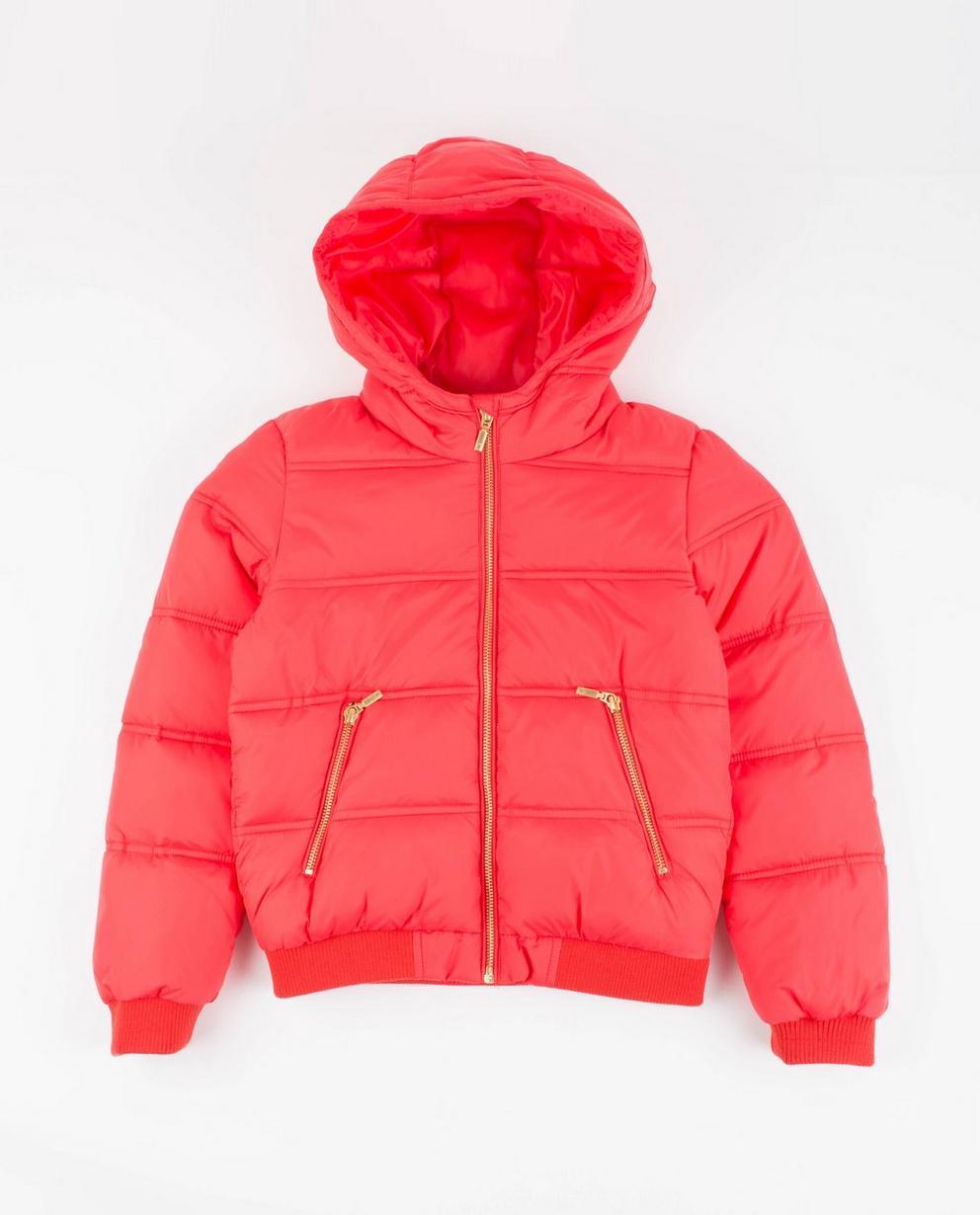 Veste matelassée  - rouge clair avec motif rayé - JBC